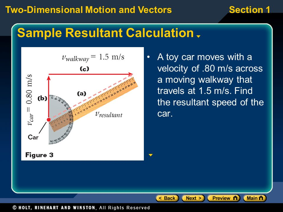 Sample Resultant Calculation