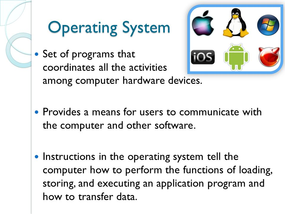 functions of an operating system 1 functions of operating system profsgisave, tilak college of education, pune-30 india 2 operating system a part of system s/w system s/w is a collection of programs which control the overall functions of computer operating system is a program which monitors.