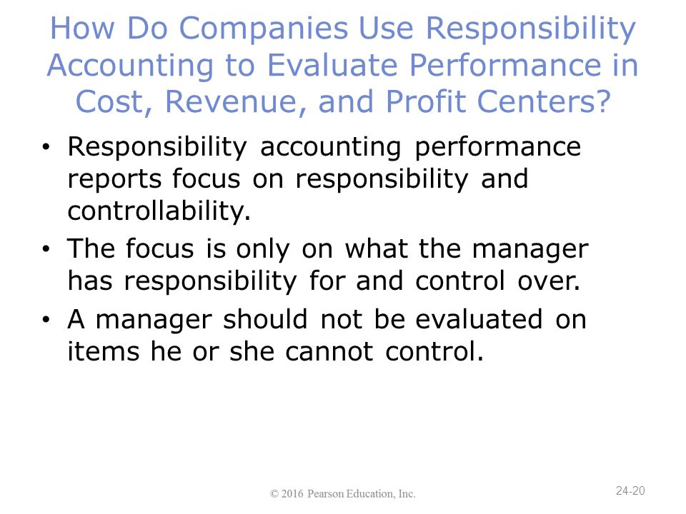 behavioral issues that surround responsibility accounting According to charles t horngren, responsibility accounting is a system of accounting that recognizes various responsibility centres throughout the organization and that reflects the plan of action of each oft these centres by allocating particular revenues and costs to the one having pertinent responsibility.
