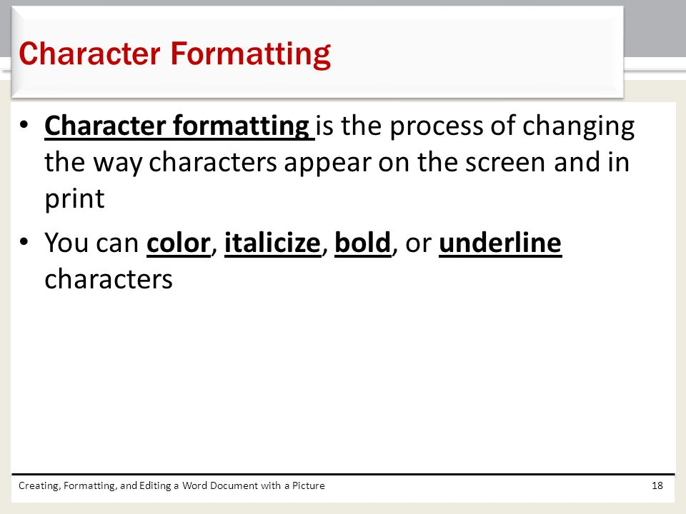 Creating Formatting And Editing A Word Document With Picture