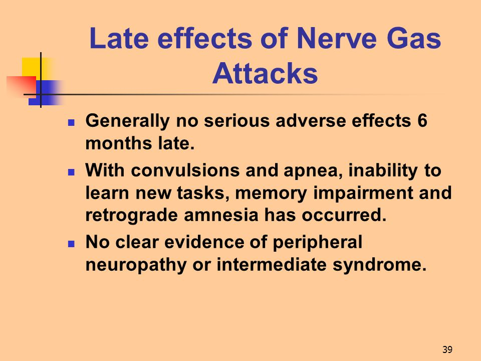 Late effects of Nerve Gas Attacks