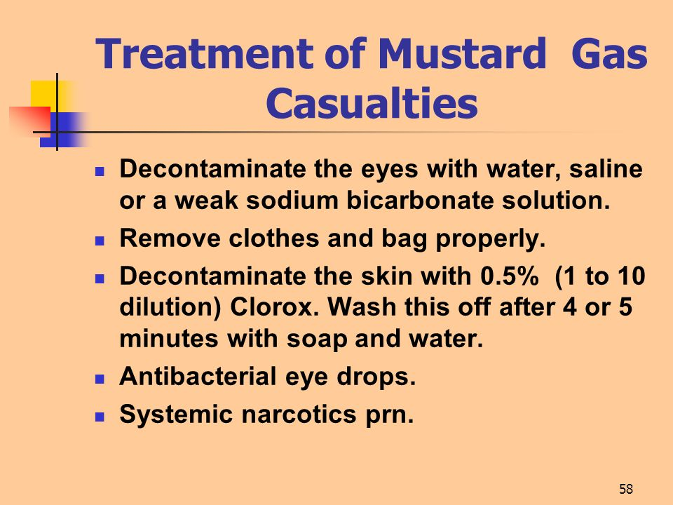 Treatment of Mustard Gas Casualties