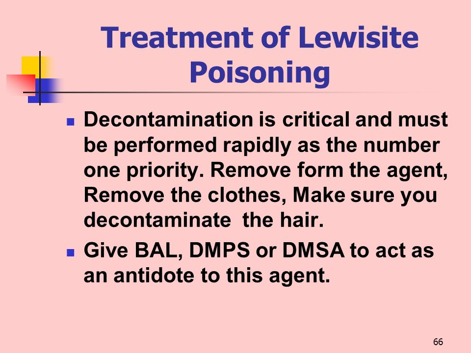 Treatment of Lewisite Poisoning