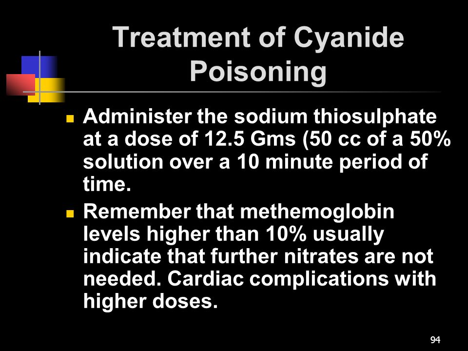 Treatment of Cyanide Poisoning