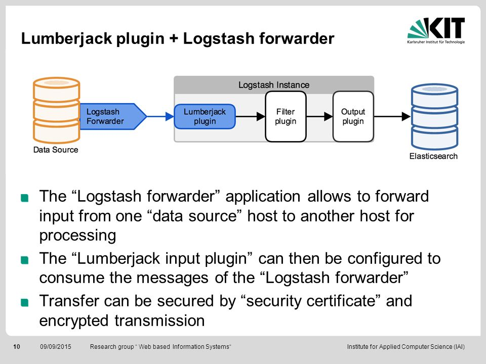 Lumberjack plugin + Logstash forwarder