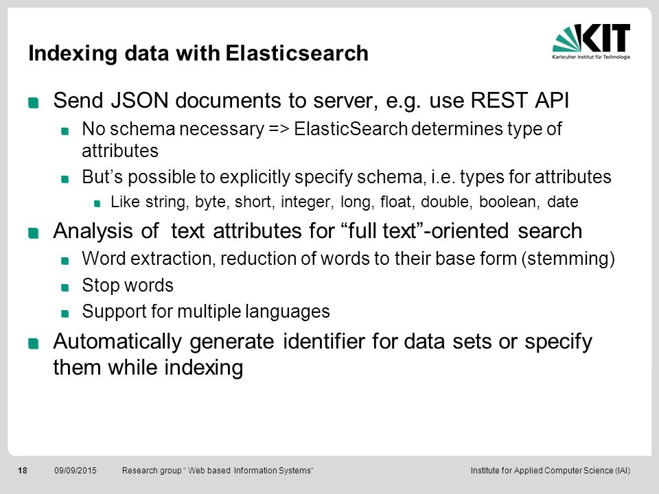 Indexing data with Elasticsearch