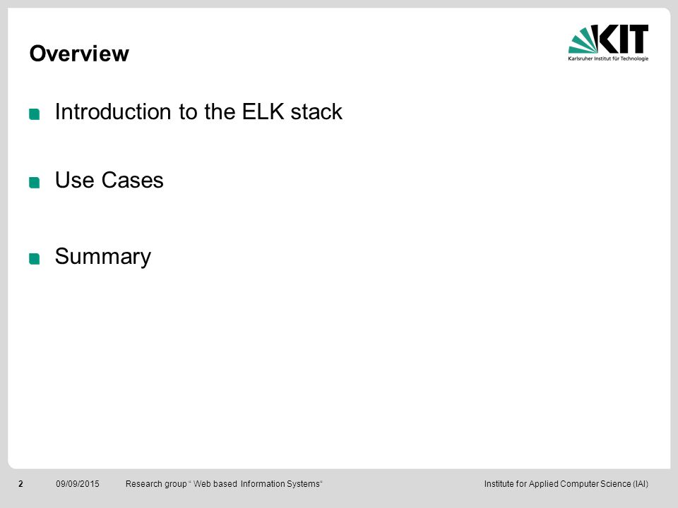 Introduction to the ELK stack Use Cases