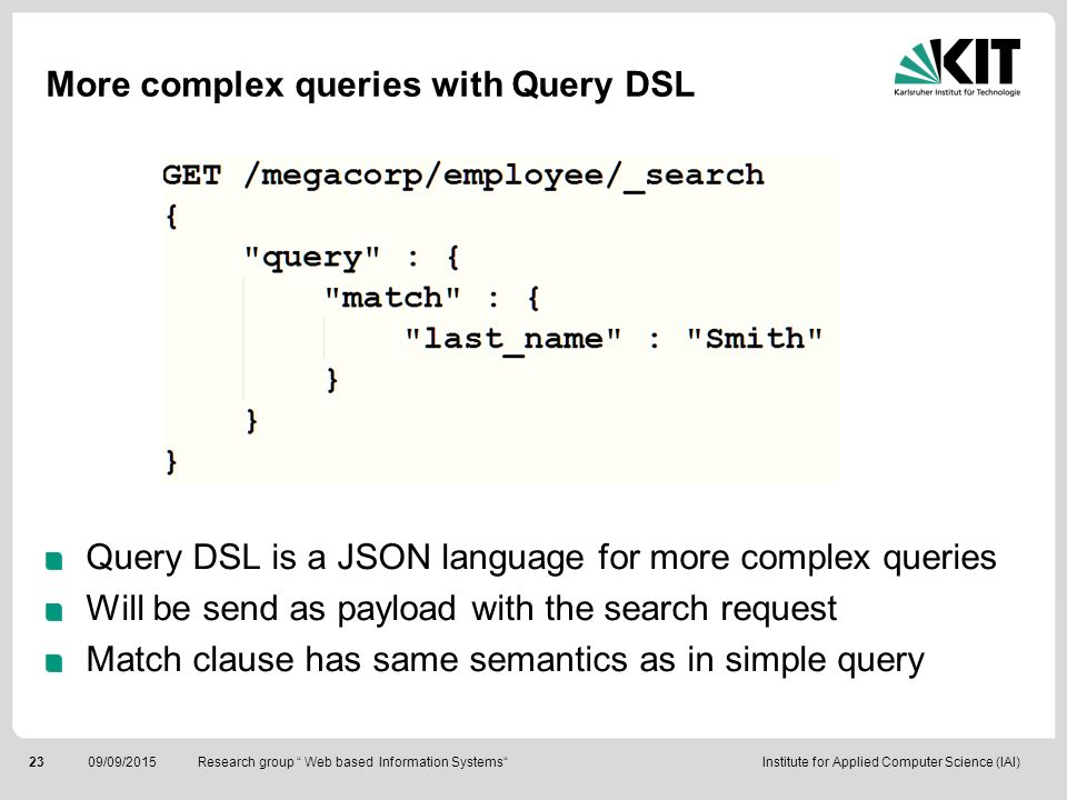 More complex queries with Query DSL