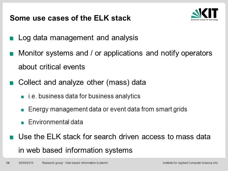 Some use cases of the ELK stack