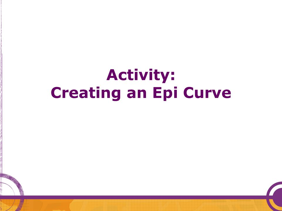 Activity: Creating an Epi Curve