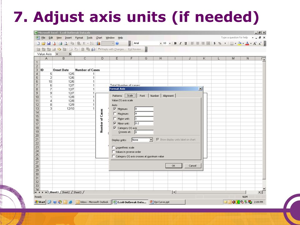 7. Adjust axis units (if needed)