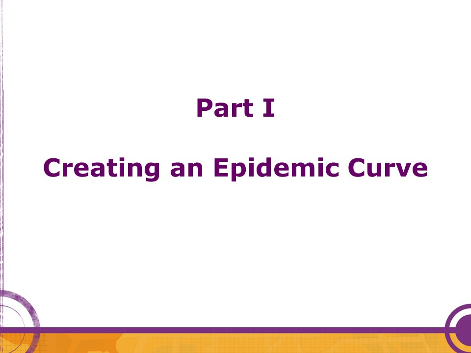 Part I Creating an Epidemic Curve
