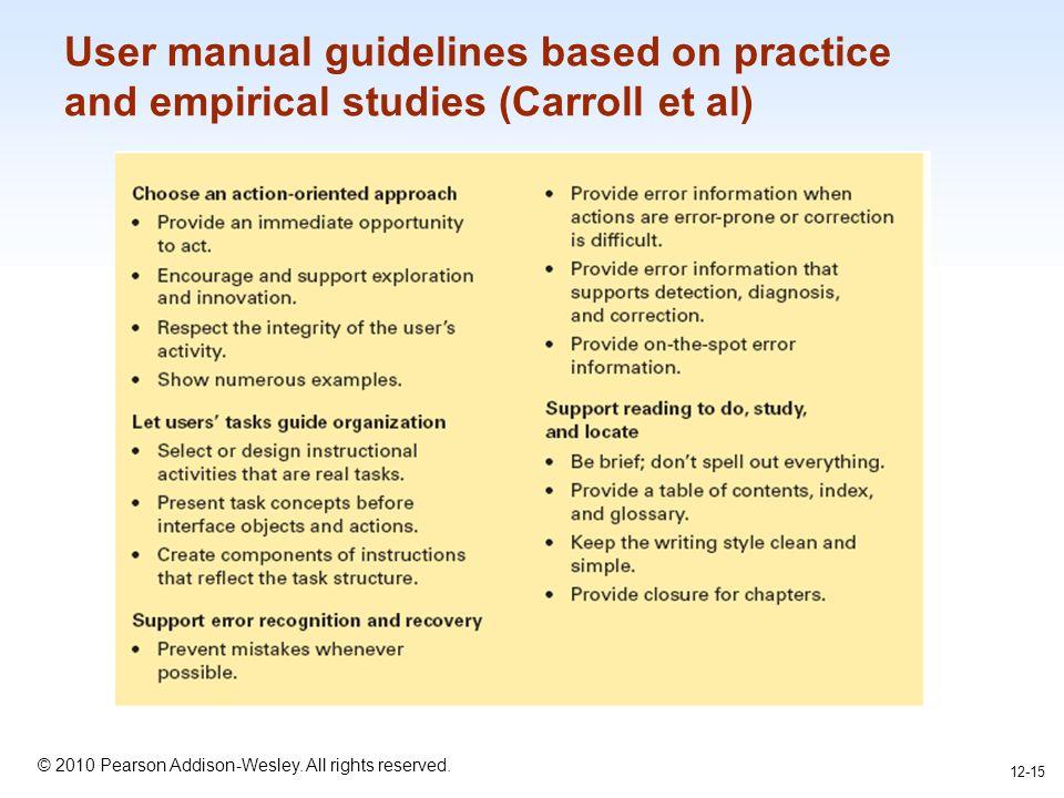 chapter 12 user documentation and online help ppt video online rh slideplayer com software user manual guidelines Federal Prison Sentences