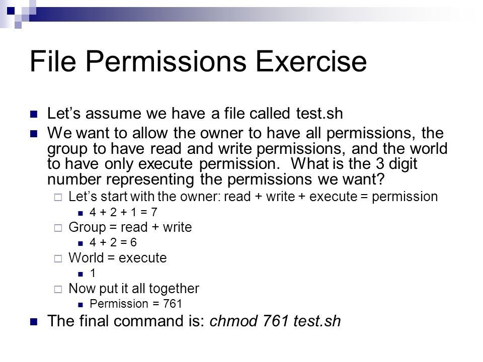 File Permissions Exercise