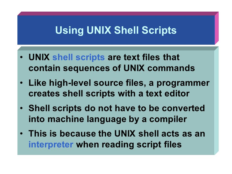 Chapter 6: Shell Programming - ppt download