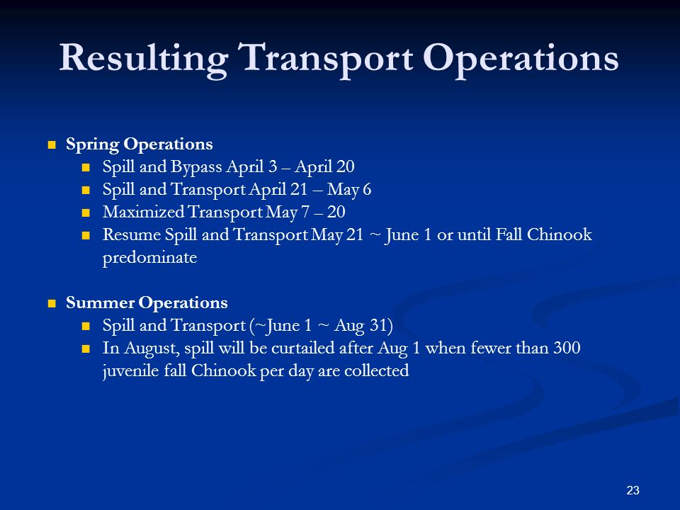 Resulting Transport Operations