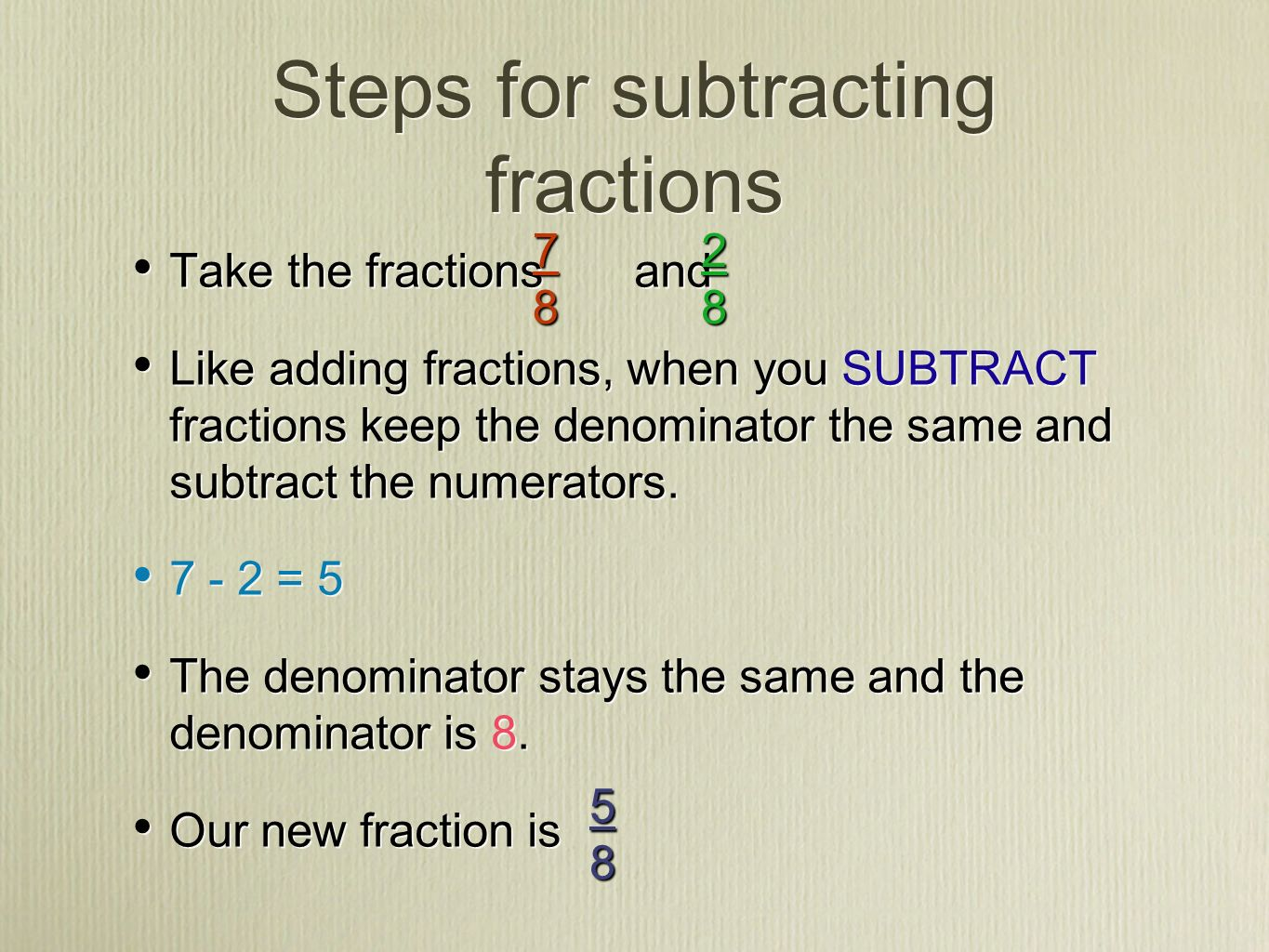 fraction fun time! i can add or subtract proper fractions and mixed