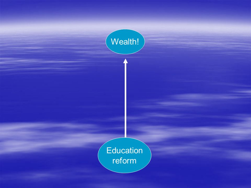 Wealth! Education reform