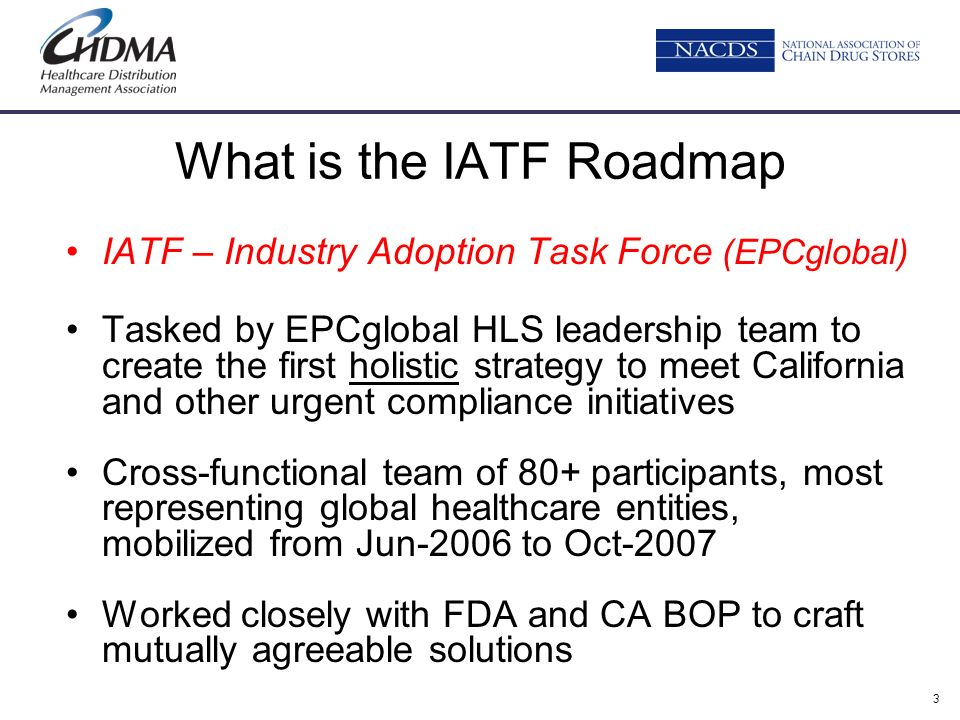What is the IATF Roadmap