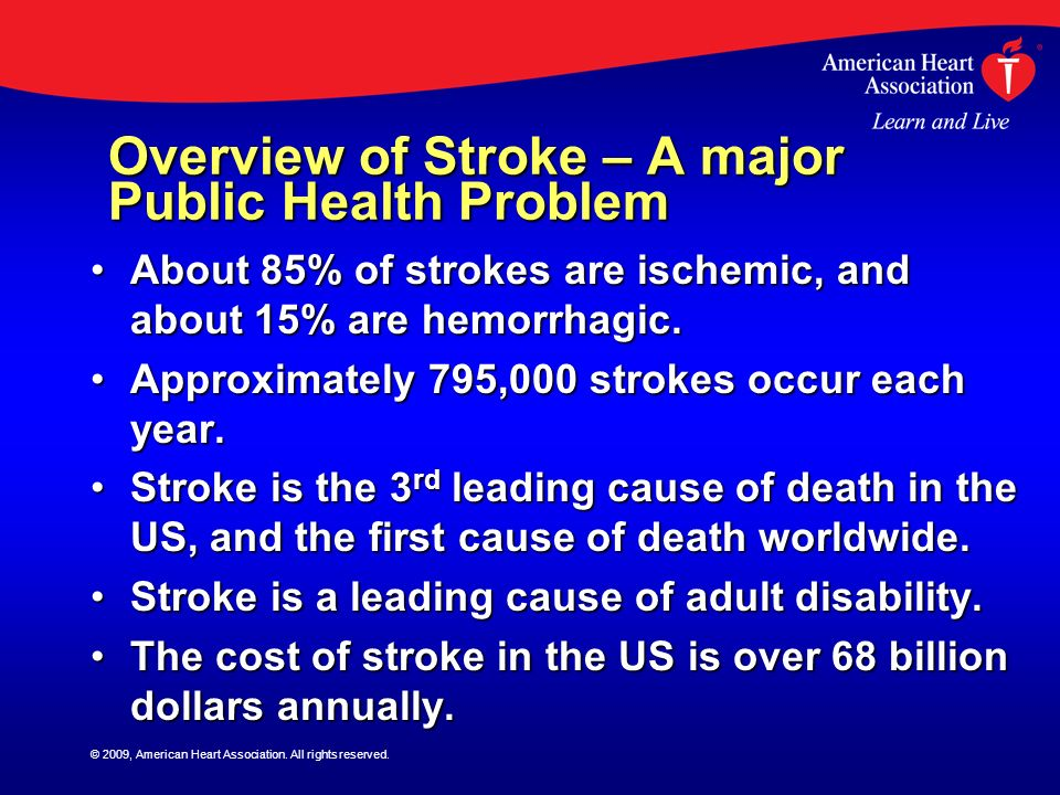 Overview of Stroke – A major Public Health Problem