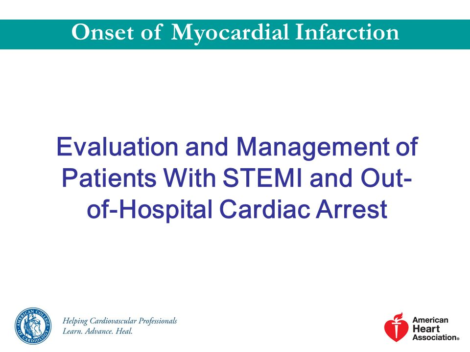 Onset of Myocardial Infarction