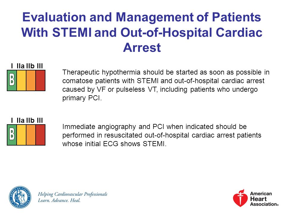 Evaluation and Management of Patients With STEMI and Out-of-Hospital Cardiac Arrest