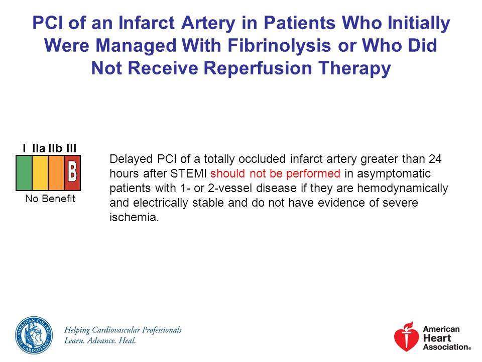 PCI of an Infarct Artery in Patients Who Initially Were Managed With Fibrinolysis or Who Did Not Receive Reperfusion Therapy