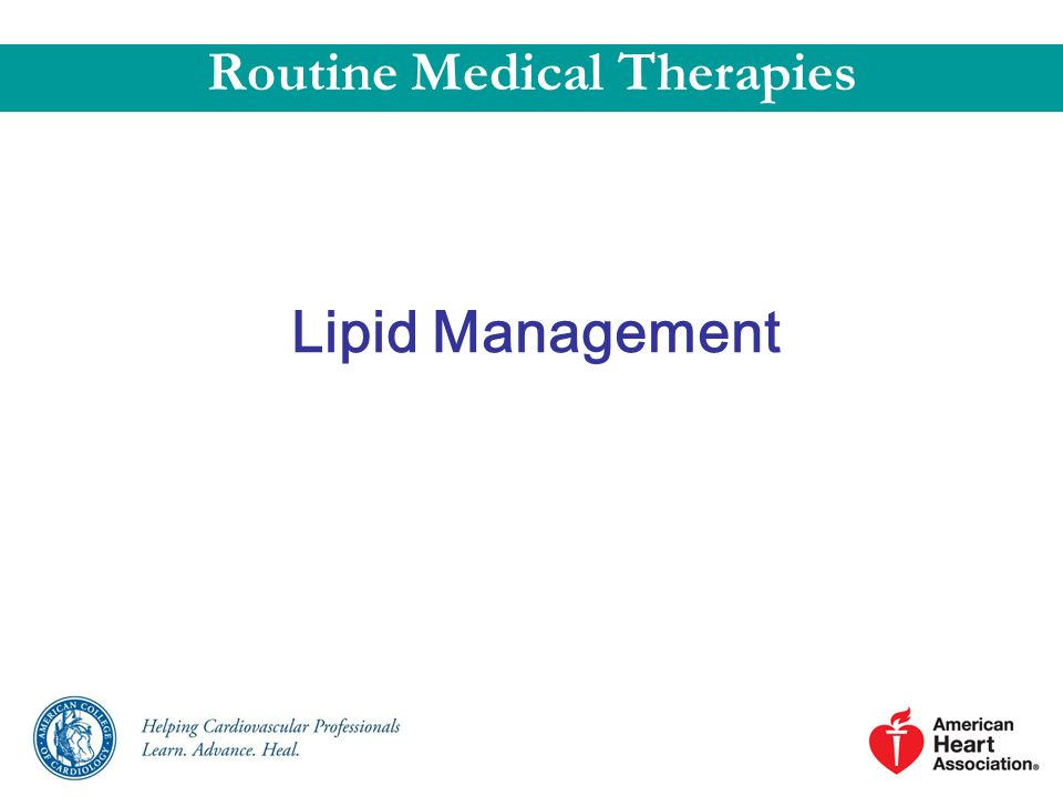 Routine Medical Therapies