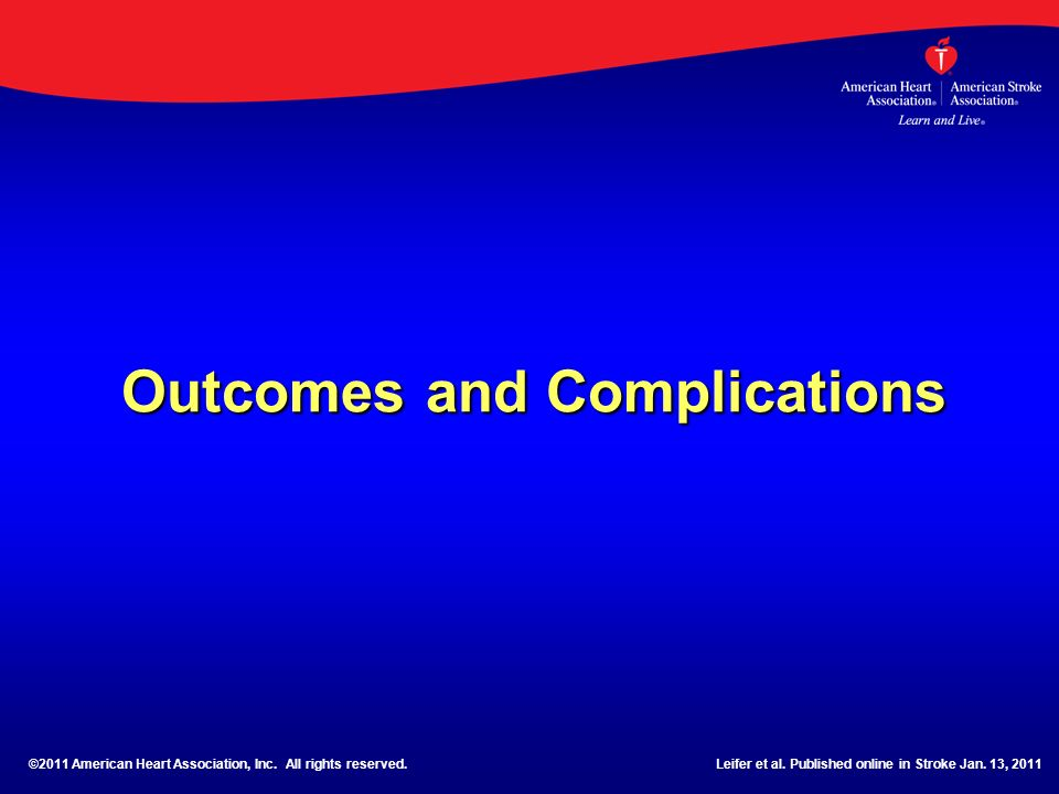 Outcomes and Complications