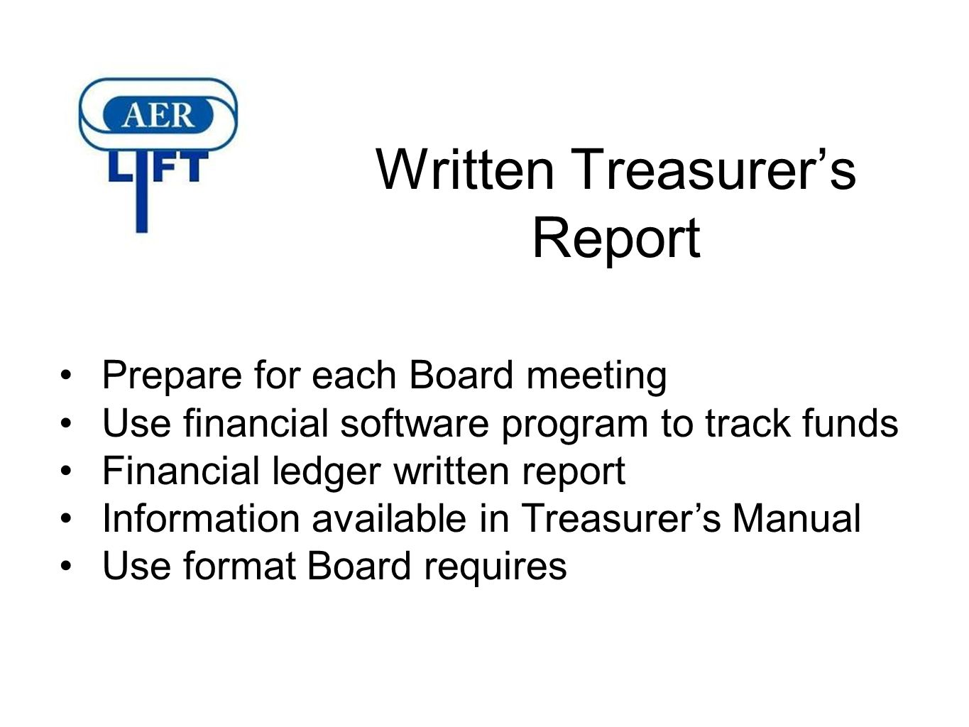 The Roles and Responsibilities of Secretary and Treasurer - ppt ...