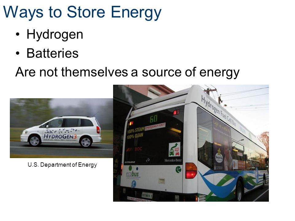Ways to Store Energy Hydrogen Batteries