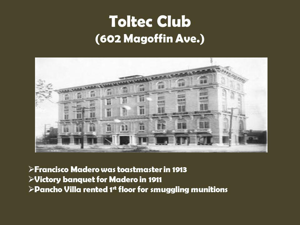 Toltec Club (602 Magoffin Ave.)