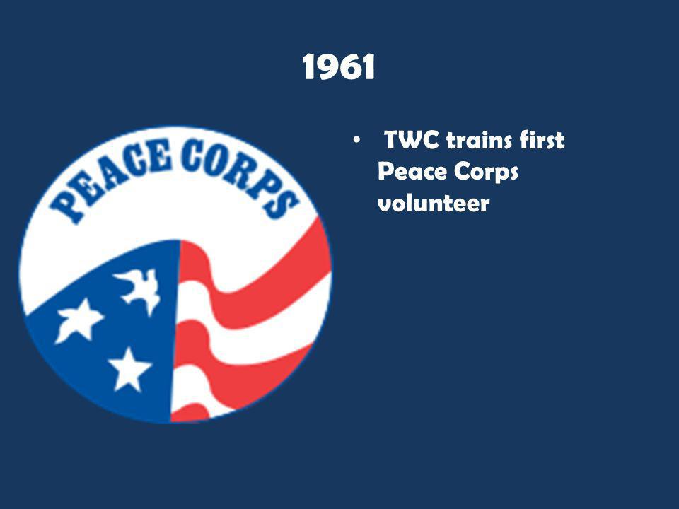 1961 TWC trains first Peace Corps volunteer