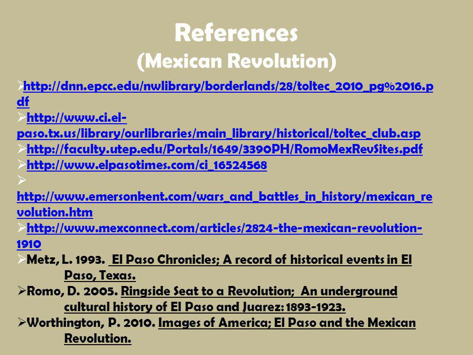 References (Mexican Revolution)