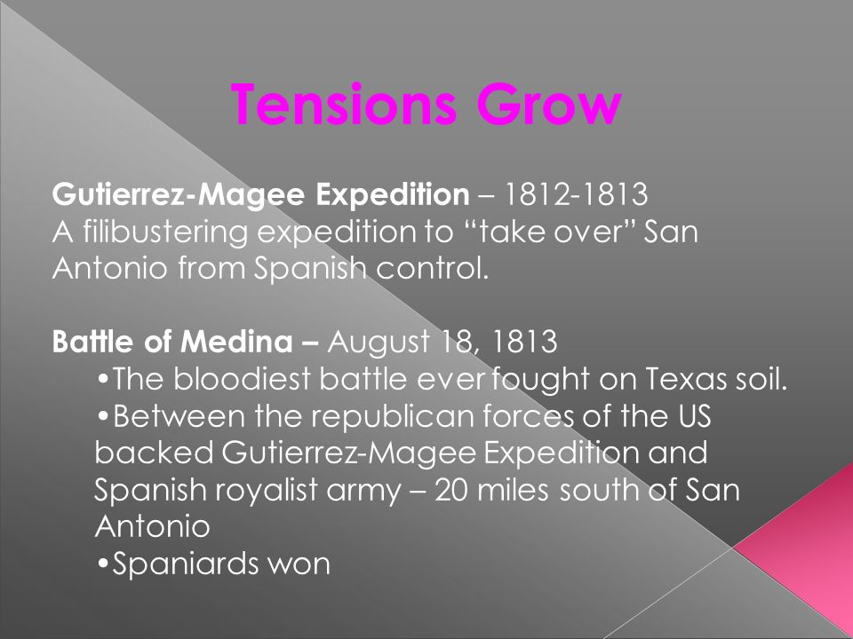 Tensions Grow Gutierrez-Magee Expedition – 1812-1813
