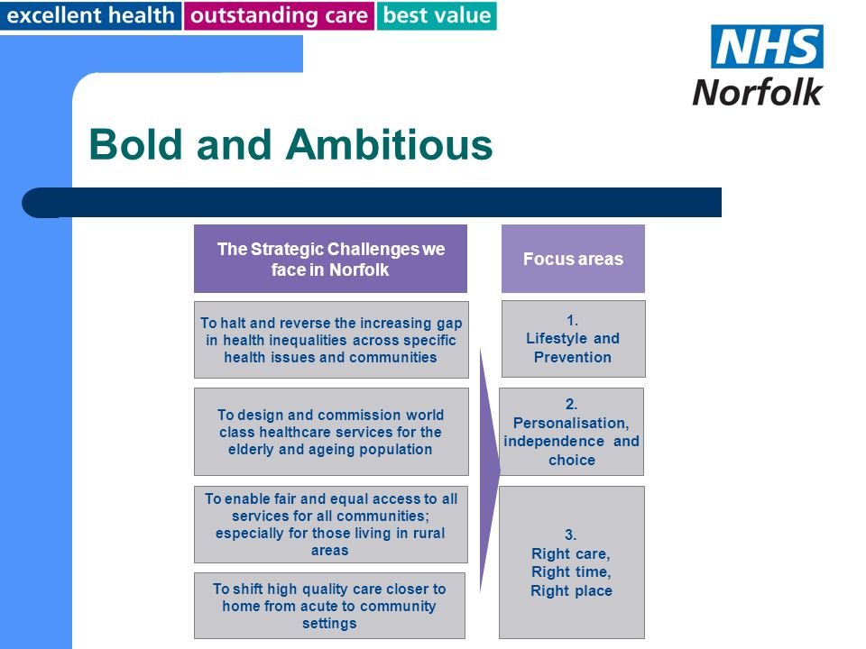 Bold and Ambitious The Strategic Challenges we face in Norfolk