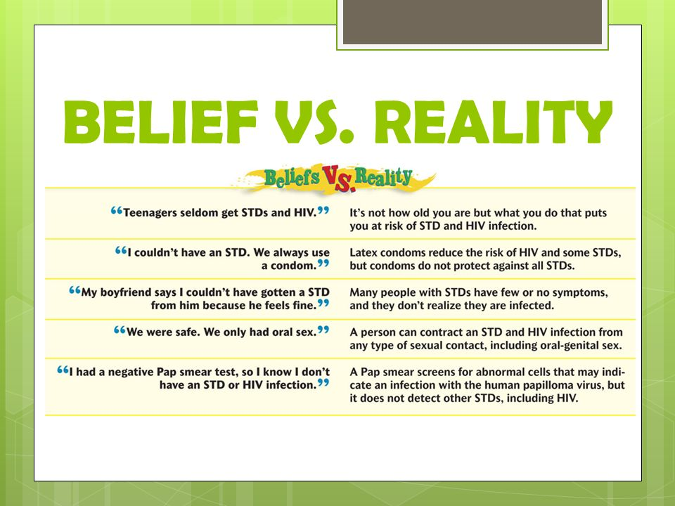 BELIEF VS. REALITY