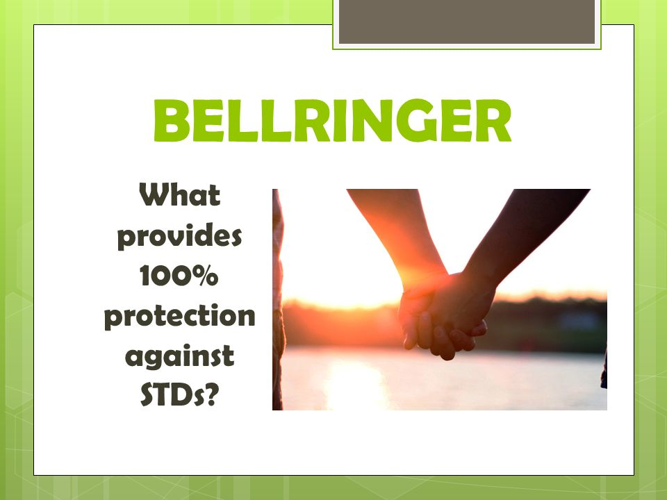 What provides 100% protection against STDs