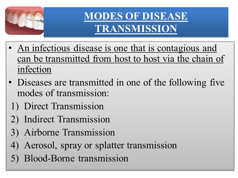5 Modes Of Disease Transmission