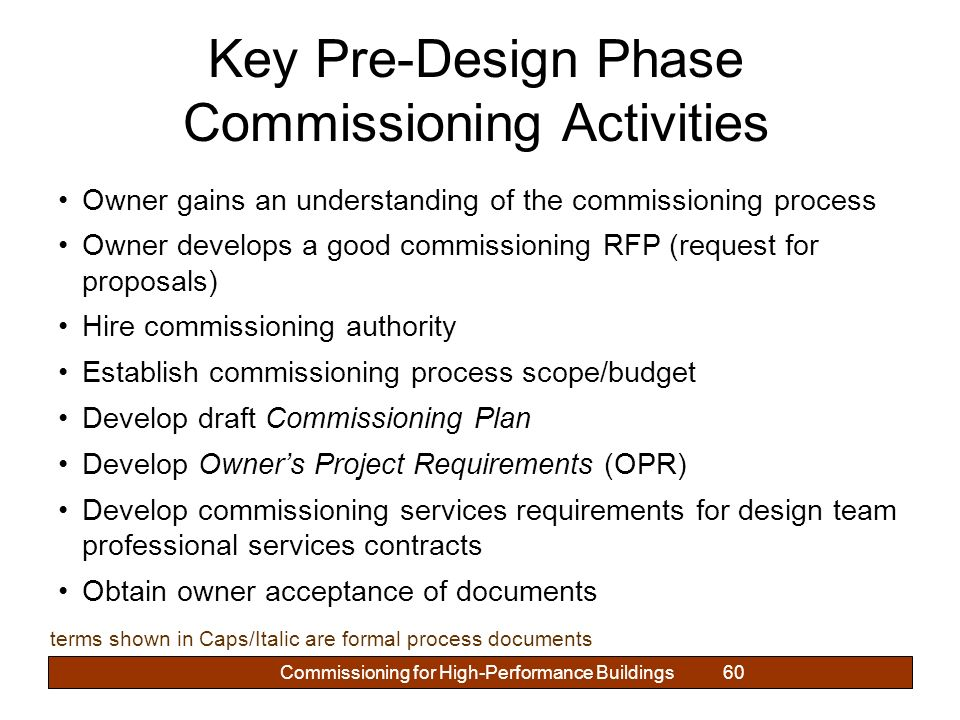 COMMISSIONING FOR HIGH-PERFORMANCE BUILDINGS - ppt download