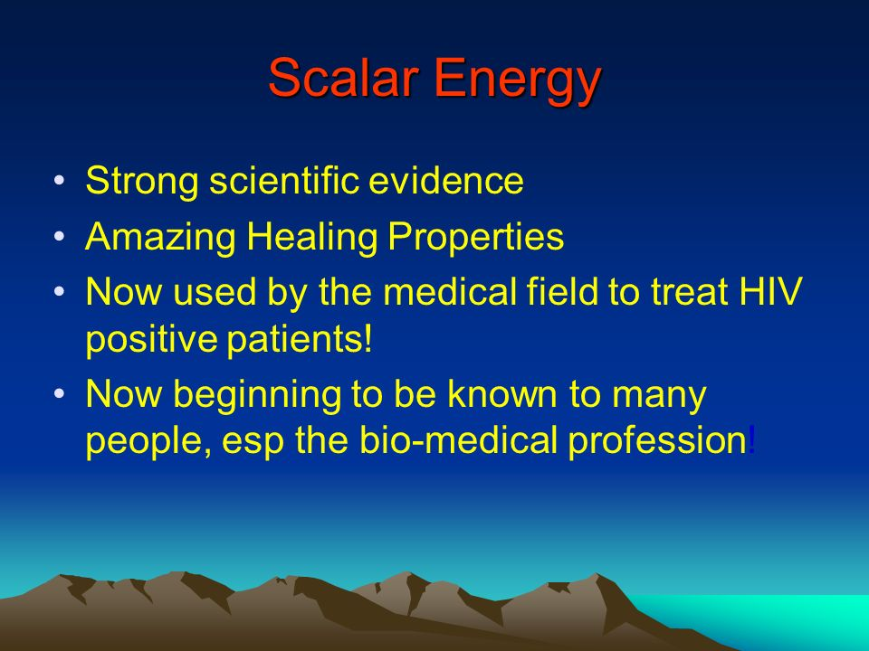 Scalar Energy Strong scientific evidence Amazing Healing Properties