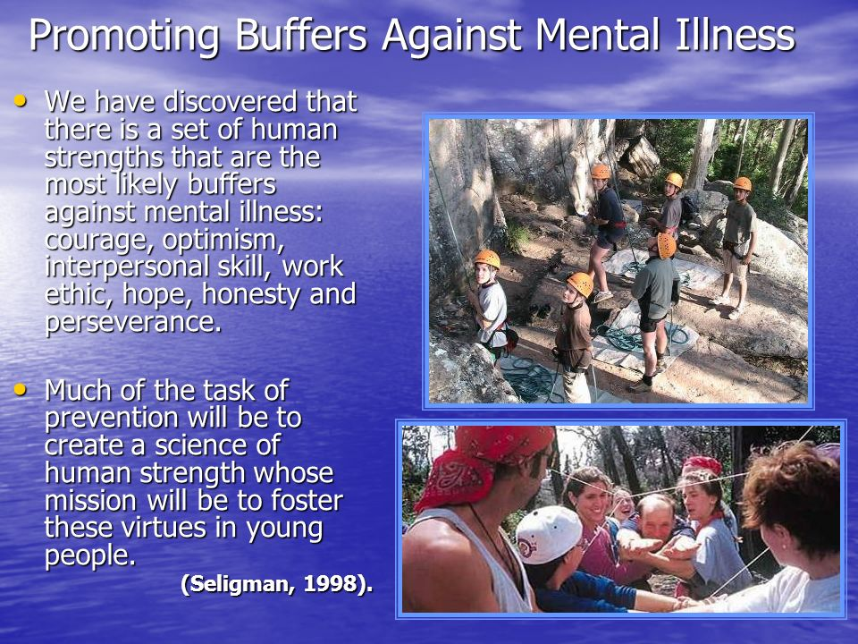Promoting Buffers Against Mental Illness