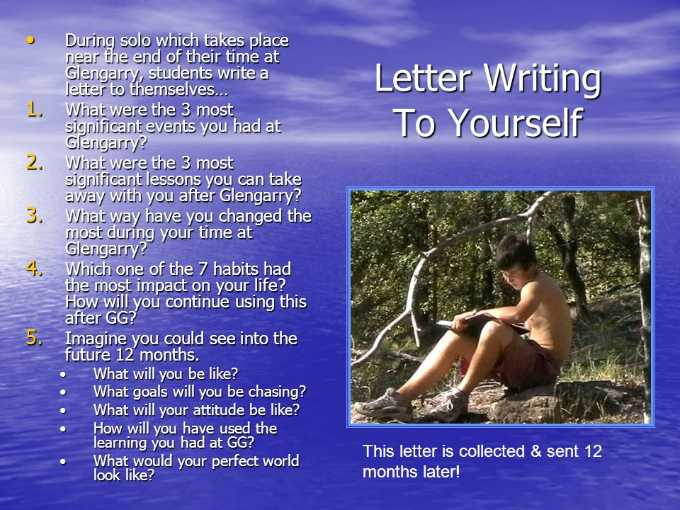 Letter Writing To Yourself