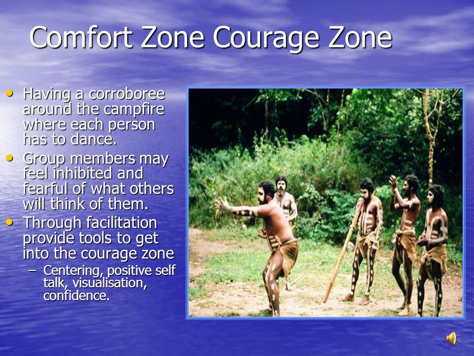 Comfort Zone Courage Zone
