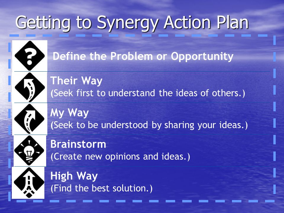 Getting to Synergy Action Plan