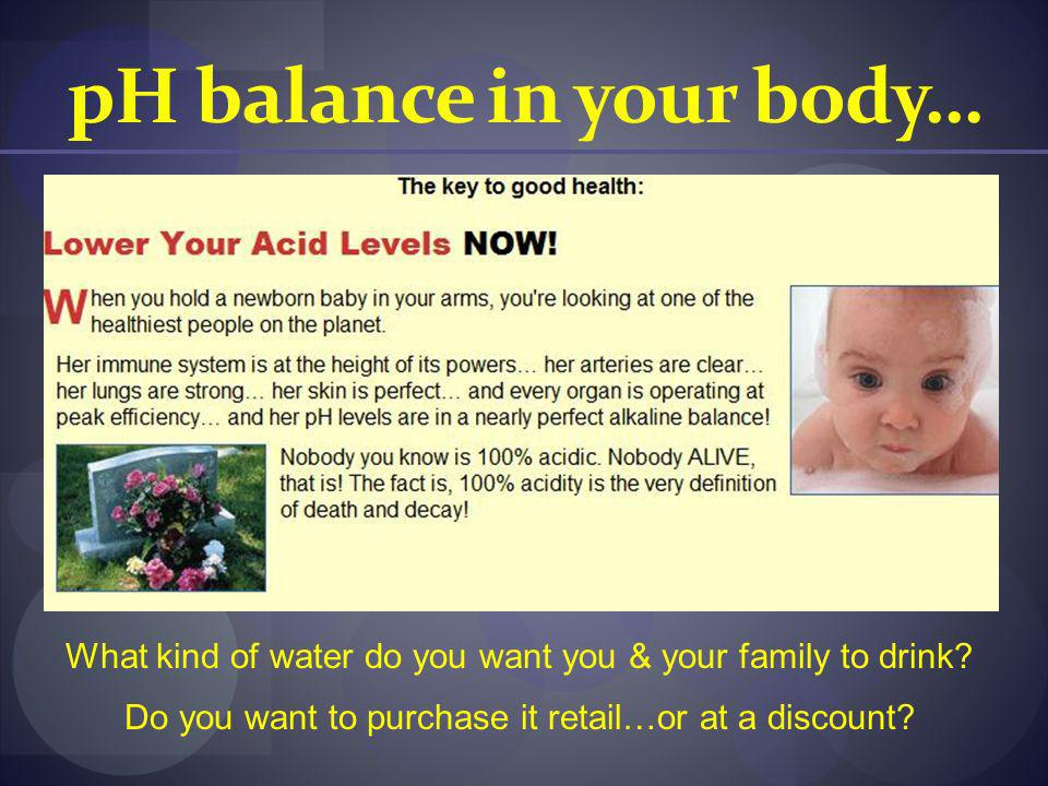 pH balance in your body…