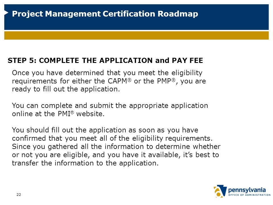 A Roadmap to Project Management Certification - ppt video online ...
