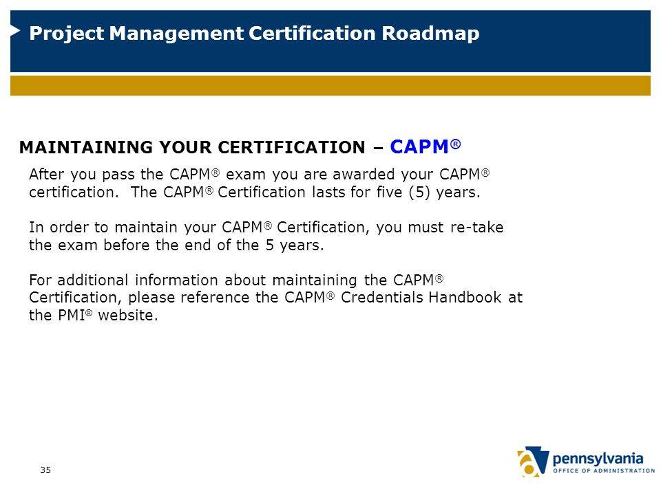 A Roadmap To Project Management Certification Ppt Video Online