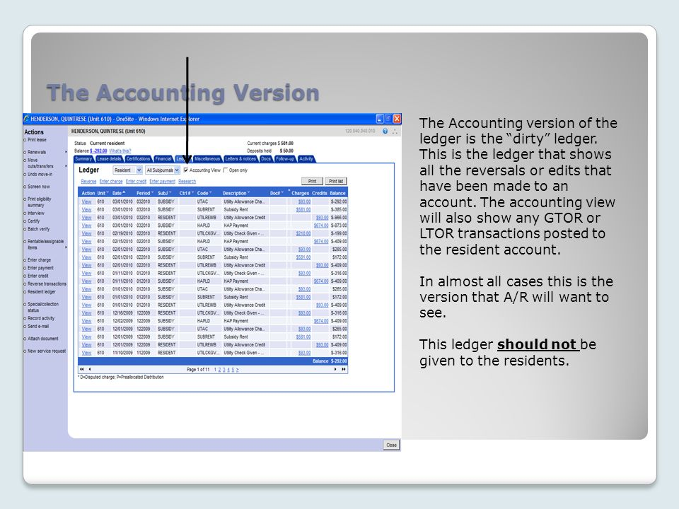 The Accounting Version