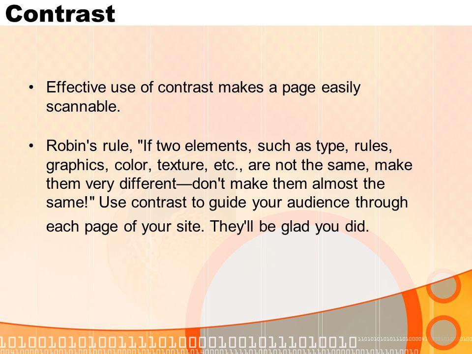 rule of contrast